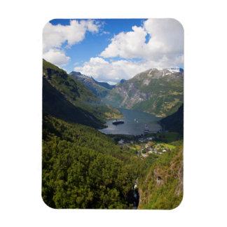 Geiranger Fjord landscape, Norway Magnet