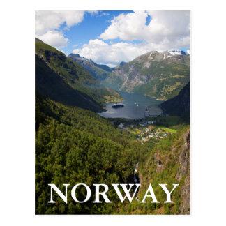 Geiranger Fjord landscape, Norway Postcard