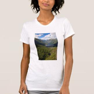 Geiranger Fjord landscape, Norway T-Shirt