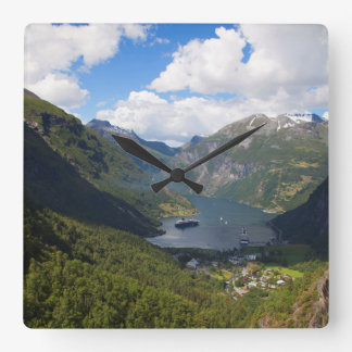 Geiranger Fjord landscape, Norway Wallclock