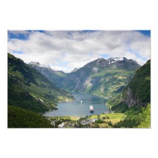 Geirangerfjord view in Norway photo print