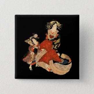 Geisha 2 Inch Square Button