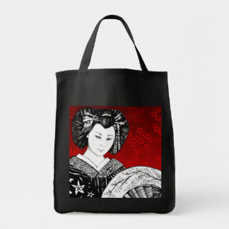 Geisha Abanico Bolsa Tote Bag