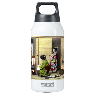 Geisha and her Meiko in Old Japan Vintage Insulated Water Bottle