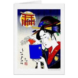 geisha as painter card