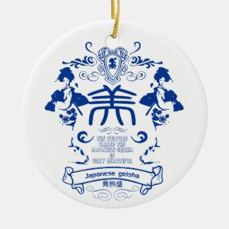 Geisha Ceramic Ornament
