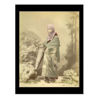 Geisha circa Winter 1885 Postcard