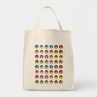 geisha faces all tote bag