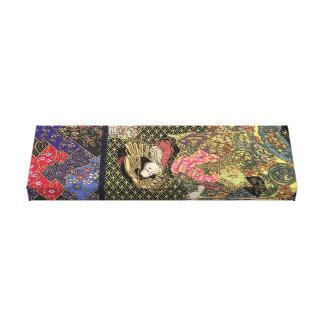 Geisha Flowing Kimono Canvas Print