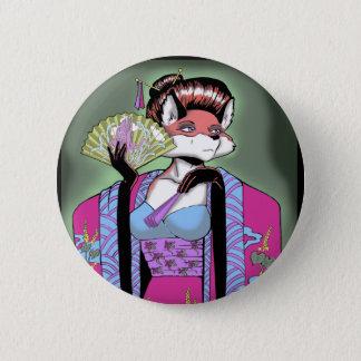 Geisha Fox Button