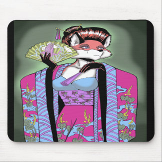 Geisha Fox Mousepad
