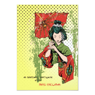 Geisha Girl Invitation