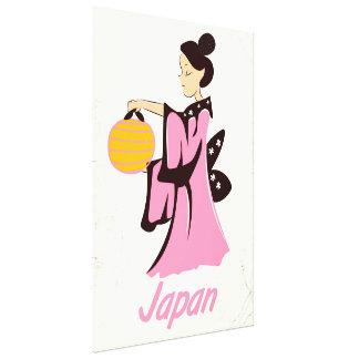 Geisha girl Japan vintage travel poster Canvas Print