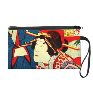 Geisha Girl Japanese Woodcut Art Designer Purse