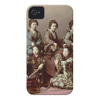 Geisha Girls Playing Instruments - Kusakabe Kimbei iPhone 4 Cases