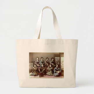 Geisha Girls Playing Instruments - Kusakabe Kimbei Large Tote Bag