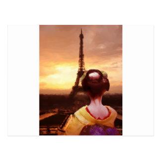 Geisha in Paris Postcard