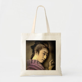 Geisha in the Shadows Vintage Old Japan Exotic Tote Bag
