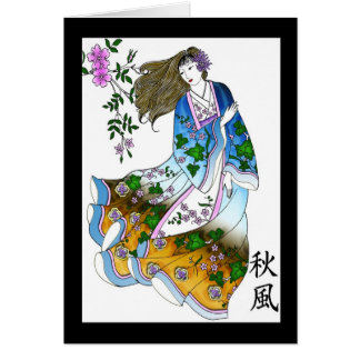 Geisha in the Wind Card