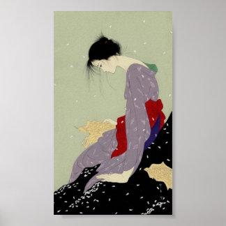 Geisha in Winter Poster
