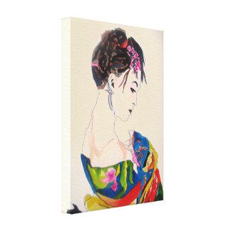 Geisha Japanese art Canvas Print