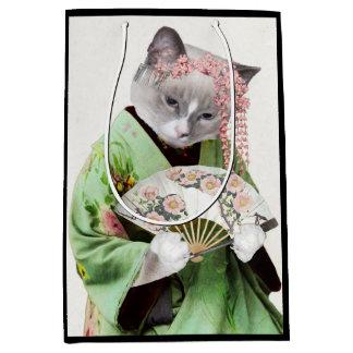 Geisha Kitten Medium Gift Bag