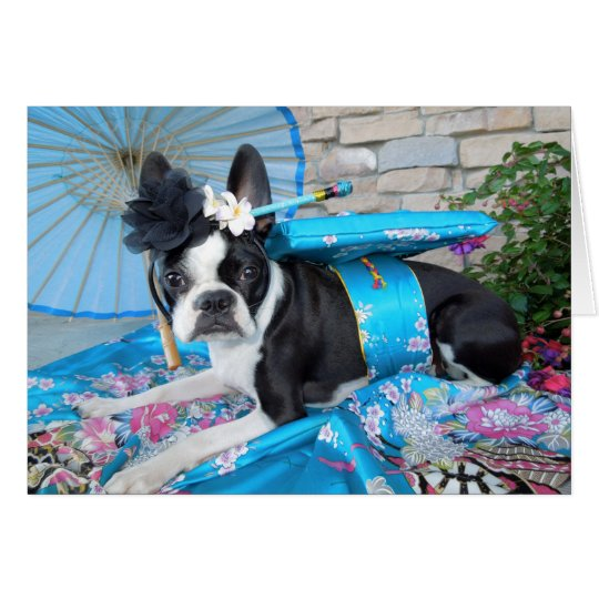 Geisha Lola B. Boston - BLANK CARD