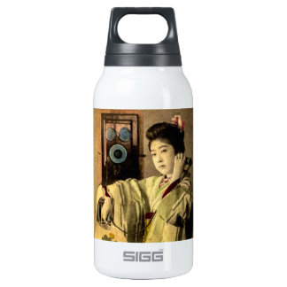 Geisha Making a Midnight Call to a Secret Lover Insulated Water Bottle
