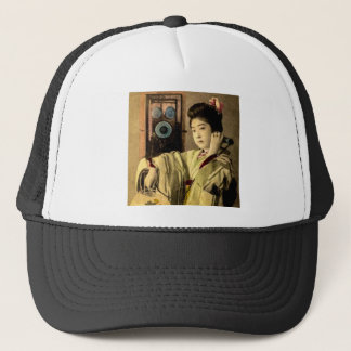 Geisha Making a Midnight Call to a Secret Lover Trucker Hat