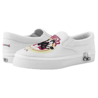 Geisha Monroe Custom Zipz Slip On Shoes