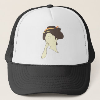 Geisha Nose Picking Trucker Hat