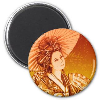 Geisha Parasol Imán Magnet