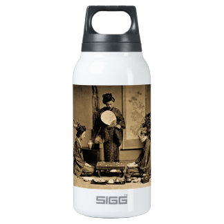 Geisha Playing Master At Game of Go  囲碁 Vintage Insulated Water Bottle