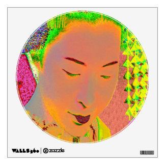 Geisha Pop Art Wall Sticker