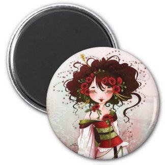 Geisha poppy magnet