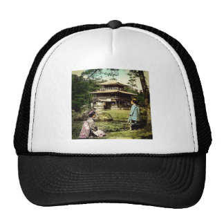 Geisha Posing at Kinkaku-ji Golden Temple Japan Trucker Hat