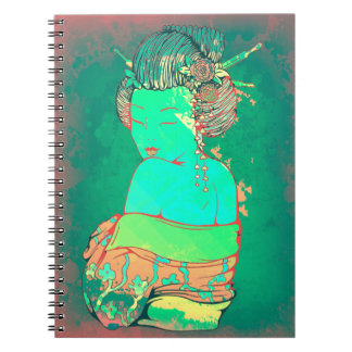 Geisha Psychedelic Notebook