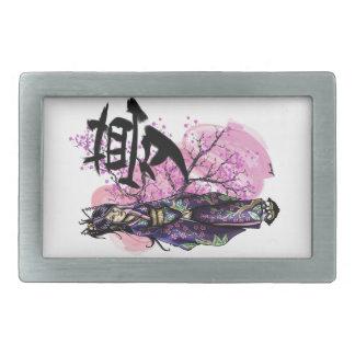 Geisha Rectangular Belt Buckles