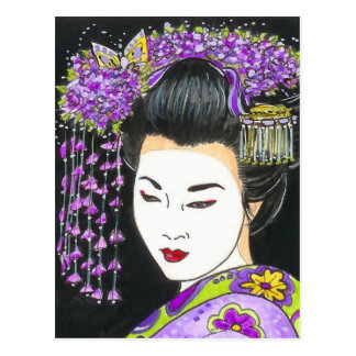 GEISHA  So softly Postcard