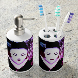 Geisha Soap Dispenser And Toothbrush Holder