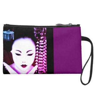 Geisha Suede Wristlet