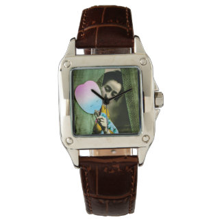 Geisha with a Paper Fan Vintage Old Japan Watch