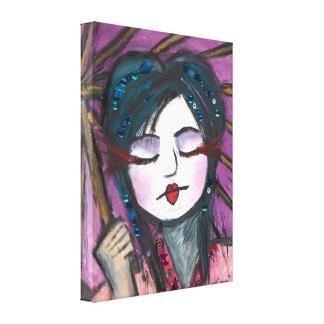 Geisha Wrapped Canvas