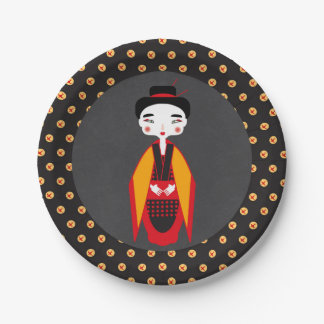 Geishas and sushi Birthday Party 7 Inch Paper Plate