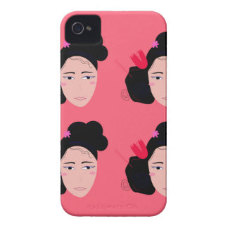 Geishas on pink design iPhone 4 case