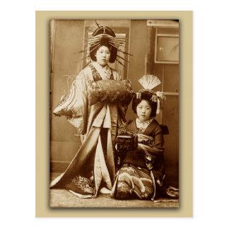 Geishas Postcard