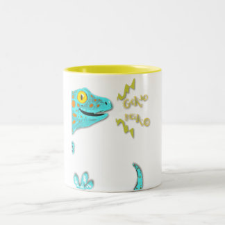 """Gekko gecko""  Cute Calling Tokay Gecko Two-Tone Coffee Mug"