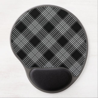 Gel Mouse Pad/Black and White Plaid Gel Mouse Pad