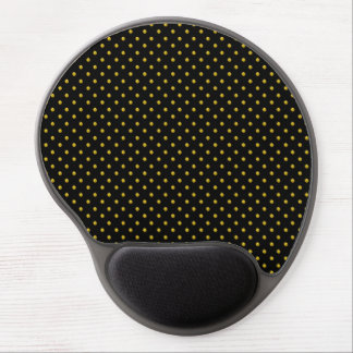 Gel Mouse Pad/Black with Gold Polka Dots Gel Mouse Pad