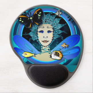 Gel Mousepad - Fairy with Butterfly and Fishes